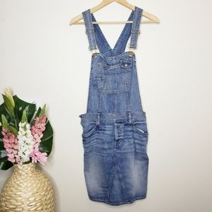 GAP Medium Wash Denim Overall Dress